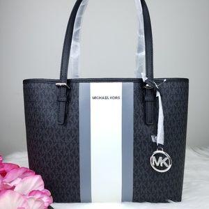 🌺NWT Michael Kors MD Carryall Tote Bag Black MK